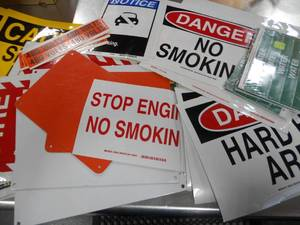 Lot of 100+ Industrial Sticker Signs