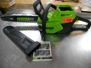 New! Greenworks Electric Chainsaw (Doesn't Include Battery or Charging Cable)