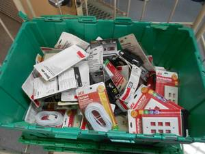 Large Box of Electrical-Phone Accessories-Network Supplies and more
