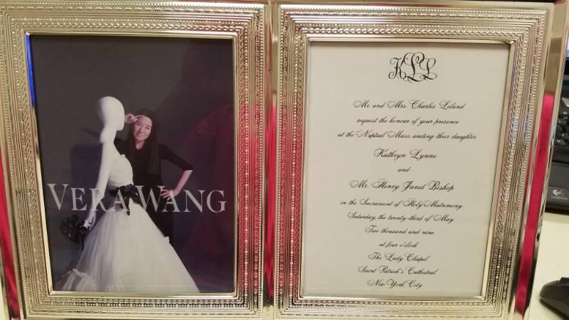 New Vera Wang Wedding Invitation Dual Sided Picture Frame